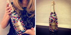 Bedazzled bottle of champagne!  There's a little happiness in every bubble!