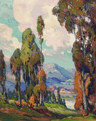 Across the Valley, John Cotton, So-Cal plein air artist.  One kind of art I'd love to own.  Perfect for my house.