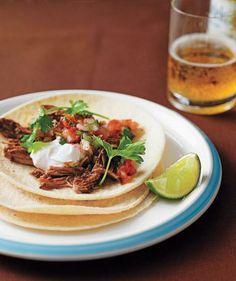 Slow-Cooker Pulled-Pork Tacos recipe