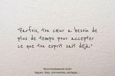 """""""J'aimerais bien que tu m'expliques ce que ton esprit sait déjà? Love Quotes, Inspirational Quotes, French Quotes, Pretty Words, Some Words, Positive Attitude, Positive Affirmations, Motivation Inspiration, Sentences"""