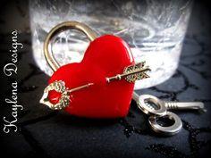 Heart Lock Shooting Arrow BDSM Lock lock and key by KaylenaDesigns