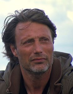 Mads Mikkelsen, Danish actor, celeb, beard, powerful face, intense eyes, portrait