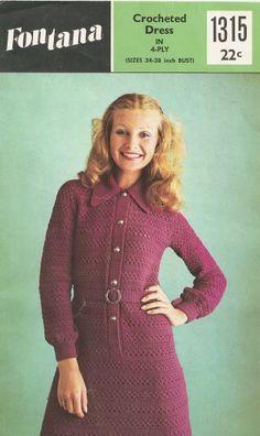 Craftdrawer Crafts: Vintage Crochet Women's Dress Pattern