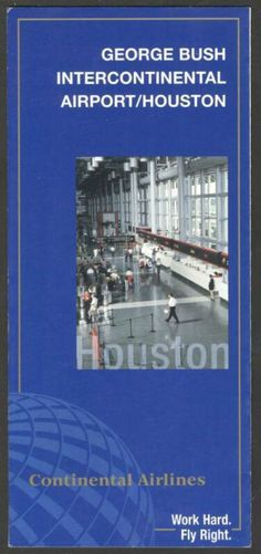 Continental Airlines Houston Airport Guide-Brochure