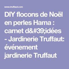 DIY flocons de Noël en perles Hama : carnet d'idées - Jardinerie Truffaut: événement jardinerie Truffaut