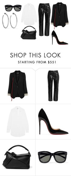 """Sin título #3334"" by ceciamuedo ❤ liked on Polyvore featuring Ann Demeulemeester, rag & bone, Vetements, Christian Louboutin, Loewe, Linda Farrow and Jennifer Fisher"