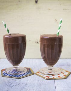 This healthy smoothie combines creamy avocado with banana, honey and cacao powder for a sweet but sin-free snack.