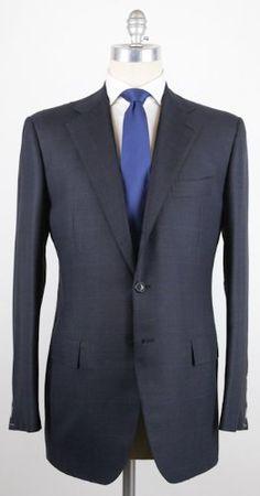New Cesare Attolini Navy Blue Suit 42/52