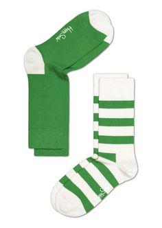 Cool socks for men & women, pack of 2, at HappySocks - Green/White ...
