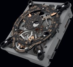 Hublot's miniature replica of the Antikythera mechanism. A modern micro-mechanical tribute to the mechanical engineers of Antiquity – Hublot adds a new time dimension to the Antikythera mechanism Expensive Watches, Most Expensive, Romain Jerome, Luxury Watches For Men, Cool Watches, Fine Watches, Wrist Watches, Men's Watches, Cool Stuff