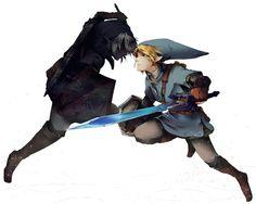 Dark Link and Link - The Legend of Zelda: Twilight Princess/Ocarina of Time