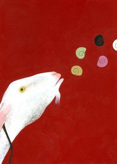 'Capracanta (Singing goat)' by Italian artist and illustrator Simone Rea (b.1975). via animalarium