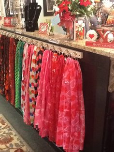 """Silk-like scarves, 13"""" x 60""""  Amazing price of $6 each.  Visit the Marmalade Tree to see for yourself in Oswego, Il."""