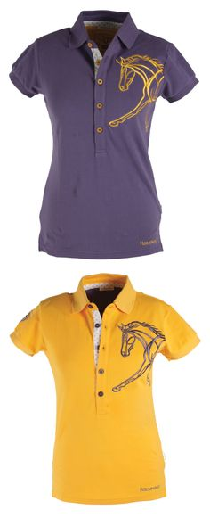 Horseware Flamboro Polo Shirt - The Flamboro polo is made from soft, stretch pique fabric with a traditional collar and button placket front. Features a beautiful horse embroidery on the side, and Horseware logo embroidery.