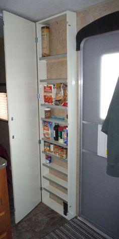 Travel trailers camper storage ideas (95)