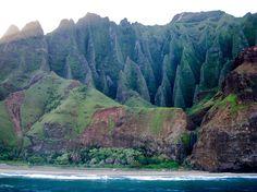 Na Pali Coast, Kauai, HI.  Taken 2/24/2011.