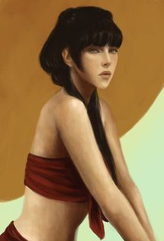 If Mai actually looked like this, I could see why Zuko would fall for her despite her lack of emotion.