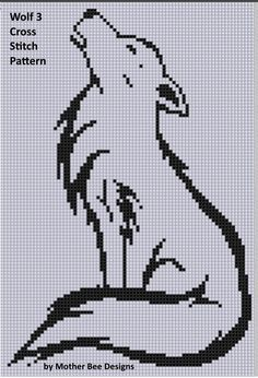 Wolf 3 Cross Stitch Pattern   | Craftsy