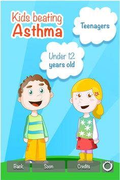 Kids Beating Asthma App with modes for both children and teens with asthma. It is great for learning to live with asthma.