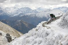 One Of World's Extreme Sport Heli-biking in New Zealand.    It's all a little strange, but, for the adrenalin-chasing traveller, very handy. If you want to endanger your life in any way, shape or form in the name of fun, you can pretty much guarantee you'll be able to do it in New Zealand.