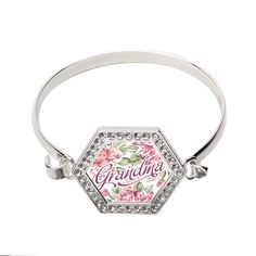 Grandma Floral Hexagon Bracelet