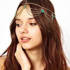 Bohemian Turquoise Chain Hairband Accessories @theBohoFairy - Color Your Life    https://bohofairy.com/shop/bohemian-turquoise-chain-hairband-accessories/  #bohofairy #bohemian #bohochic #gypsy #hippie #bohemianstyle #bohobabe #boholife #boho #freepeople #festival #hippiesoul #bohovibes #bohodecor #boholove #bohobabe #freespirit #hippiefashion #hippiespirits #hippiechick #bohogirl #hippiegirl #hippielove #happyhippie #bohofashion #hippiestyle #hippielife #vintage