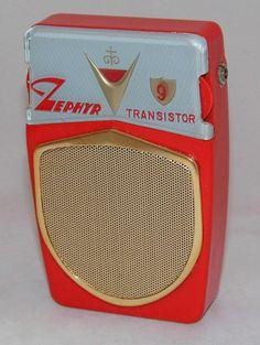 https://flic.kr/p/EWQNBA | Vintage Zephyr 9 Transistor Radio, Model ZR-930, AM Band, Reverse Paint, Circa 1962