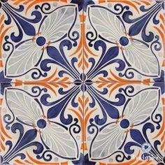 Italian ceramics wall tile mural, modular floor tile panel - \