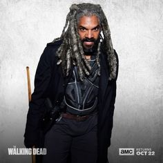 """The Walking Dead (@amcthewalkingdead) on Instagram: """"Peace must be protected. Season 8 premieres Sunday, October 22. #TWD"""" - Khary Payton as King Ezekiel from The Kingdom in The Walking Dead"""