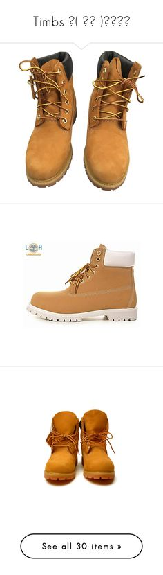 """Timbs ║( 家族 )║"" by itsaaliyah ❤ liked on Polyvore featuring shoes, boots, ankle booties, camel, leather lace up booties, camel booties, timberland boots, leather lace up boots, timberland booties and timberland"