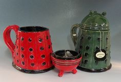 CAN'T HANDLE HOW MUCH I WANT THIS Dalek Mug in your choice of colors by TheMudPeddlerStudio on Etsy, $38.00