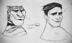 Tiger. No one knows his name  but he's one of the dancers for Gazelle. Has a huge crush on her