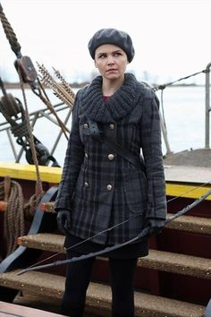 Worn on TV a website that has clothing worn on TV shows. Snow Whites grey plaid coat on Once Upon A Time Ouat, Ginnifer Goodwin, Ginny Goodwin, Alice Goodwin, Mary Margaret, Check Coat, Plaid Coat, Por Tv, Once Upon A Time