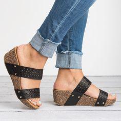 4261cdf66387 Laser Cut Wedge Sandals. Toe ShapeShoes StyleFashion SandalsWedgesFree  ShippingCasualHeelsWomens ...