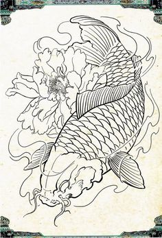 Desenhos de Carpas Facebook: Leandro Carlos Tattoo  Instagram: Leandro_Carlos_Tattoo #LeandroCarlosTattoo #Ideiascarpas Japanese Koi Fish Tattoo, Koi Fish Drawing, Japanese Dragon Tattoos, Japanese Tattoo Designs, Fish Drawings, Koi Dragon Tattoo, Koy Fish Tattoo, Pez Koi Tattoo, Koi Tattoo Sleeve