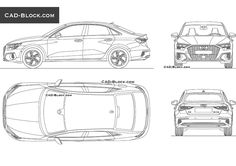 Audi A3 Limousine (2020) CAD Block Bmw Serie 7, Bmw 7 Series, Honda Civic Car, Honda S2000, Ford Ranger Raptor, Honda Insight, Mercedez Benz, Jeep Wrangler Rubicon, Mitsubishi Lancer Evolution