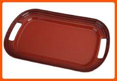 "Le Creuset Stoneware 14"" Oval Serving Platter, Cerise (Cherry Red) - Improve your home (*Amazon Partner-Link)"
