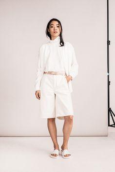Bethnals #SS16 - The Alfie Western Shirt in white.  #unisex #genderneutral #unisexfashion #unisexstyle #londonuniform #denim #denimtrends #denimfashion #indigo #denimlovers
