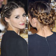 Coiffure : Queen Letizia takes inspiration from Olivia Palermo for chic updo Pretty Hairstyles, Braided Hairstyles, Wedding Hairstyles, Up Hairstyles, Braided Updo, Milkmaid Braid, Wedding Hair And Makeup, Bridal Hair, Hair Makeup
