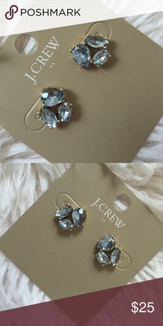 Final ⛔️Delicate JCrew earrings ⛔️final price ⛔️ New with tags and dust bag color blue J. Crew Jewelry Earrings