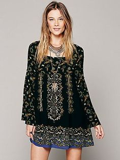 Free People Free People Modern Bell Long Sleeve Dress