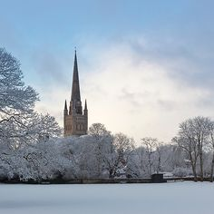'Norwich Cathedral in the Snow' by Nick Jermy Norwich Cathedral, Cathedral Church, Norwich Norfolk, Great Yarmouth, British Countryside, Winter Scenery, Seaside Towns, Winter Landscape, Landscape Photography