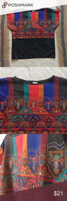 Spotted while shopping on Poshmark: Vintage Boxy and Bold Boho Top! #poshmark #fashion #shopping #style #Tops