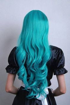 A month in hair colors! Today: cyan shades! | The HairCut Web!