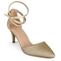 Women's Journee Collection d'Orsay Luela Glitter Pumps - Gold Gold 6.5