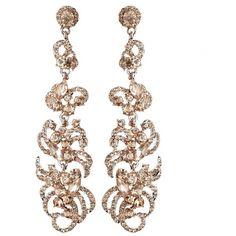 Modern Ribbon Wedding Earrings ($21) ❤ liked on Polyvore featuring jewelry, earrings, bridal stud earrings, bride jewelry, bride earrings, pave earrings and wedding jewelry