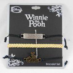 Disney Winnie The Pooh Bravery Bracelet 3 Pack Arm Party Cord Bracelet Set