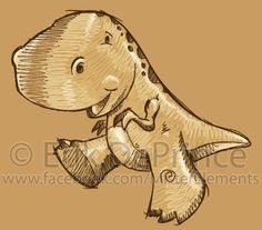 Cute Dinosaur Sketch by ErikDePrince.deviantart.com on @deviantART