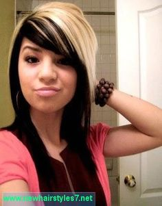 Super Colors Bangs And Love This On Pinterest Short Hairstyles Gunalazisus