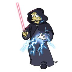 The cast for Star Wars VII has been announced and 'Star Wars' day has just passed. What a time to be a Star Wars fan. Simpsons Drawings, Simpsons Art, Comic Games, Comic Movies, Simpsons Characters, Game Of Thrones, Star Wars Vii, Cartoon Stickers, Star Wars Humor